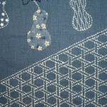 Sashiko Kagome Table Runner